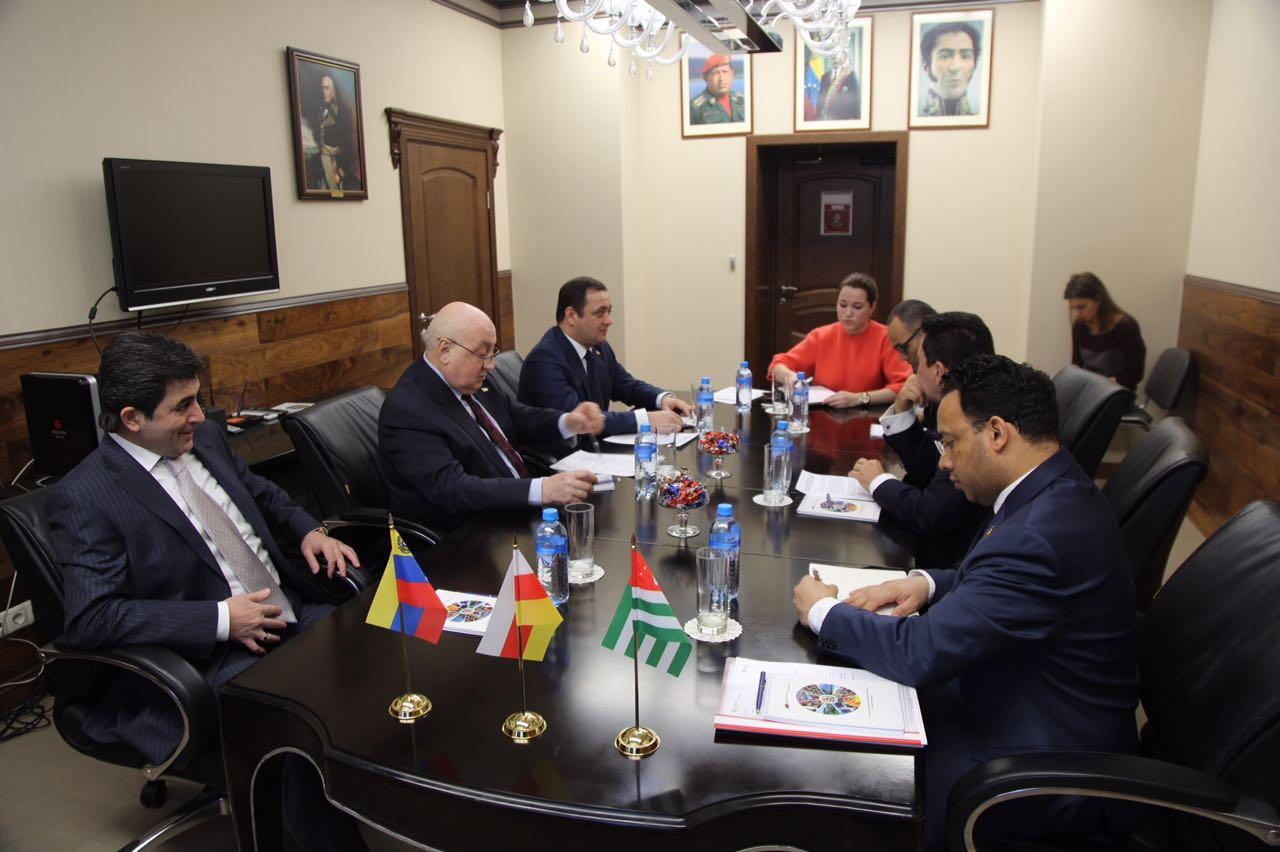 Знаур Гассиев встретился с Заместителем министра иностранных дел по вопросам Европы Республики Венесуэла Самуэльем Монкада