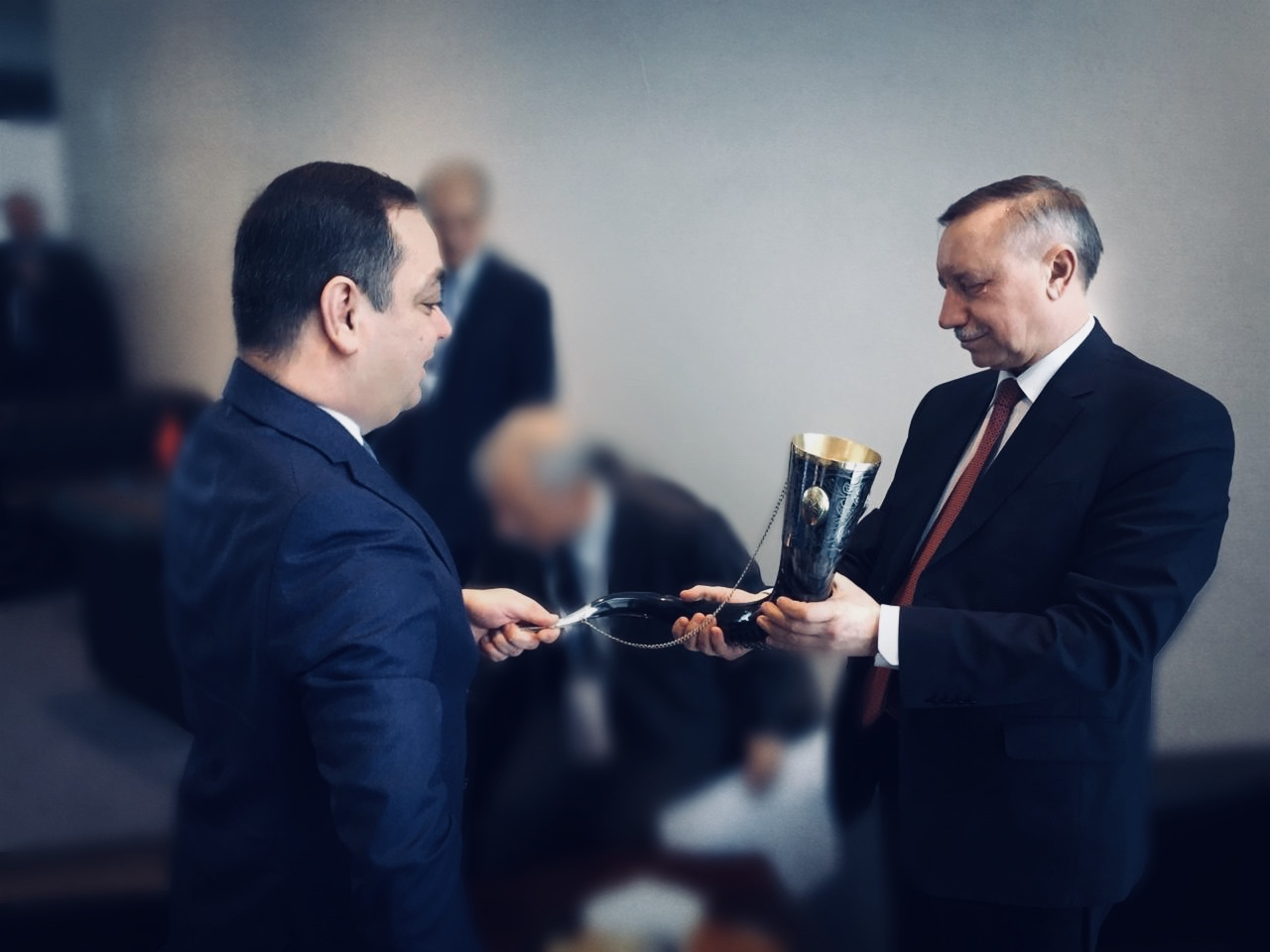 В Санкт-Петербурге состоялась встреча Знаура Гассиева и Александра Беглова